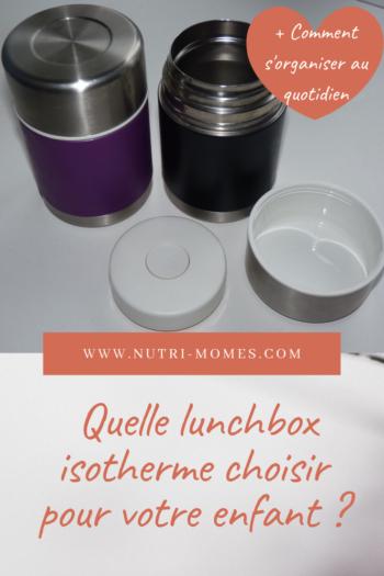 lunchbox isotherme pour enfant