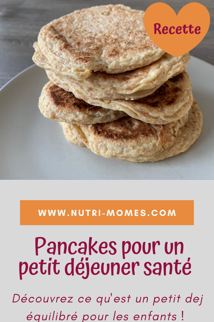 petit déjeuner équilibré pour enfants : les pancakes