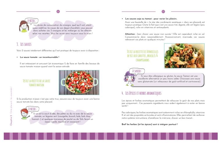 repas faciles : belle mise en page