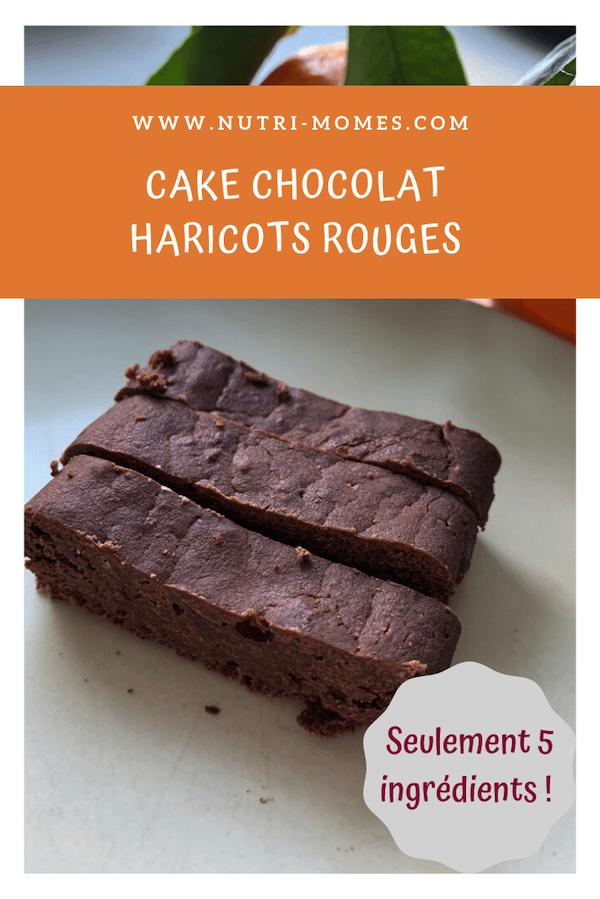 Recette de cake haricots rouges et chocolat