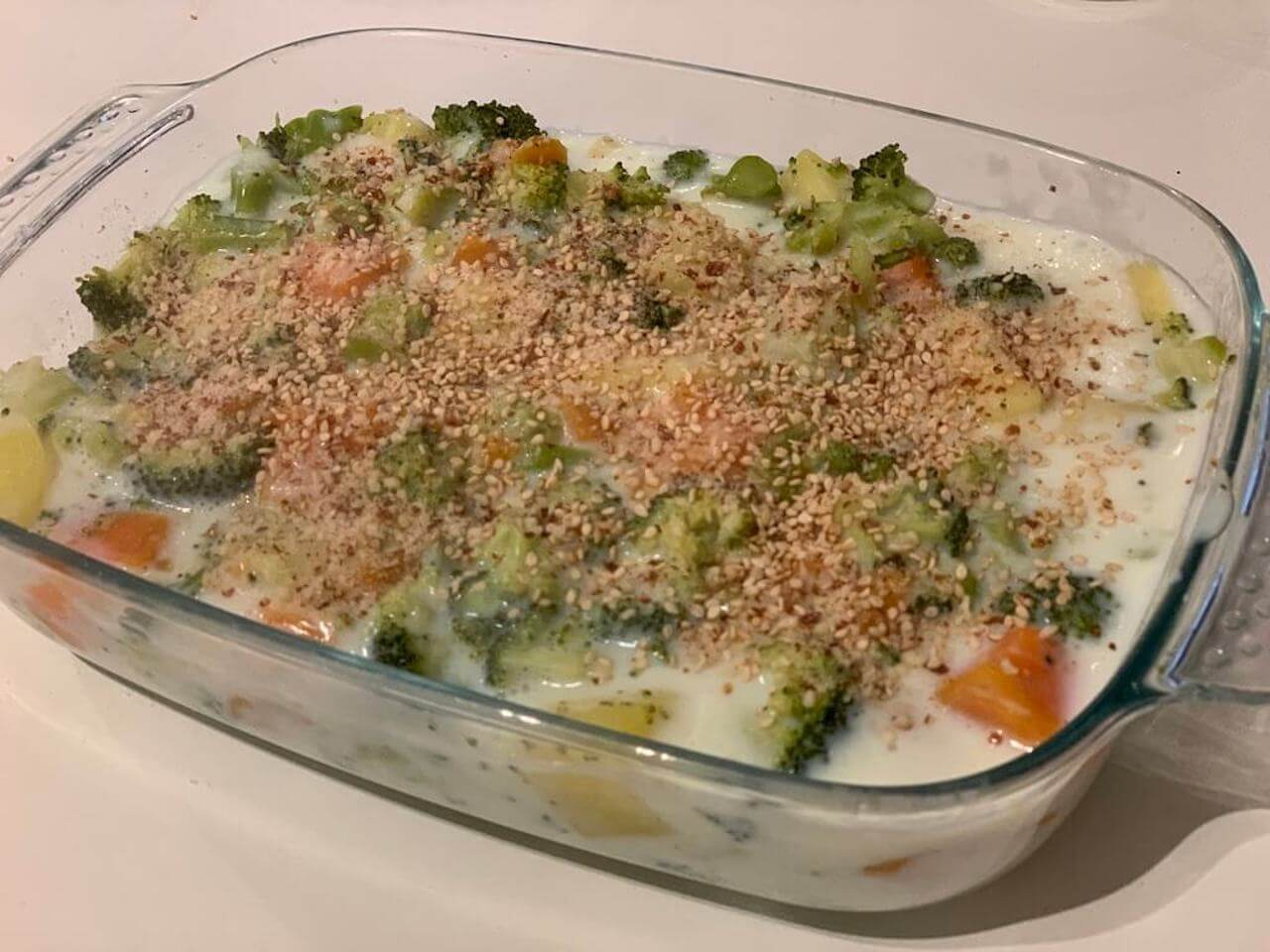 Recette de gratin de légumes sauce béchamel
